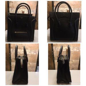 ebf2cac2c6 Celine Bags - Celine Goatskin Leather Micro Luggage Dark Taupe